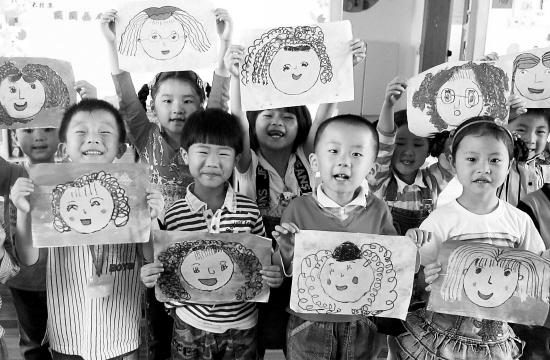 妈妈儿童肖像画儿童大全_红外图片肖像画图片测步骤妈妈图片