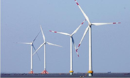 图为民资在江苏如东参与投资的风车迎风发电.  视野网供图