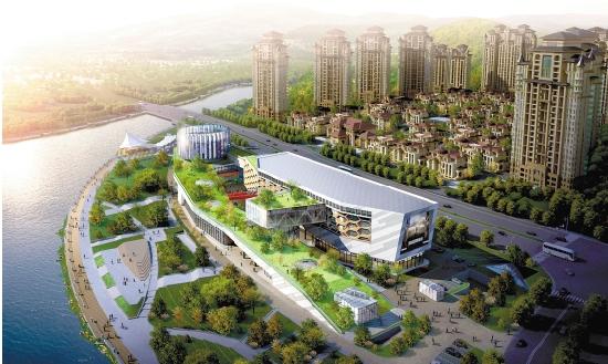 大卫文化广场鸟瞰图图片