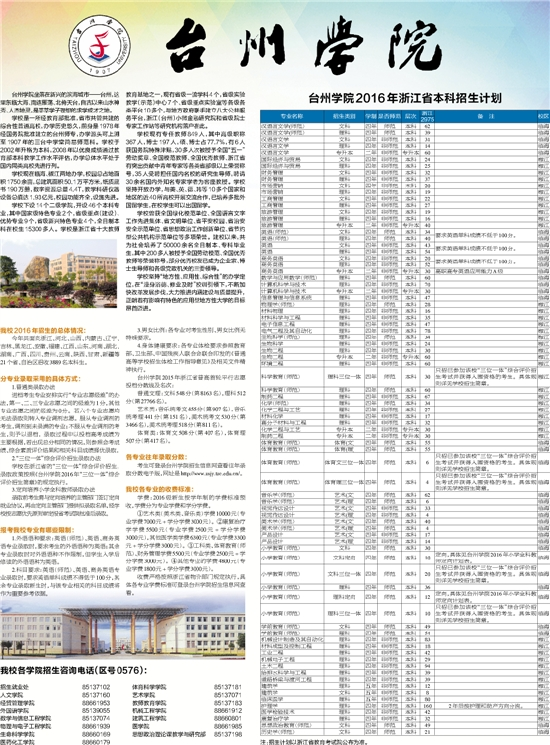 台州学院2015年浙江省普高首轮平行志愿投档分数线及名次:   普通