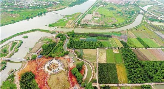 两村联建 湿地公园
